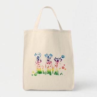 Personalized Creative Doggie Portrait Design Grocery Tote Bag