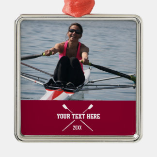 Personalized Crew Rowing Club Rower Name Year Christmas Ornament