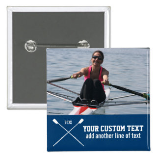 Personalized Crew Rowing Club Team Name Year 15 Cm Square Badge