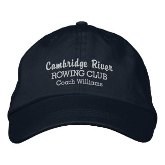 Personalized Crew Rowing Club Team & Rower Name Embroidered Hats