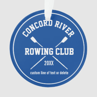 Personalized Crew Rowing Logo Oars Team Name Year
