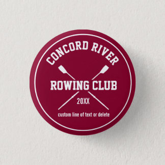 Personalized Crew Rowing Logo Oars Team Name Year 3 Cm Round Badge