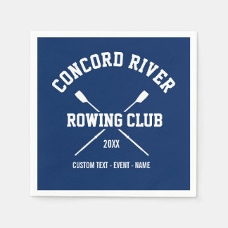 Personalized Crew Rowing Logo Oars Team Name Year Disposable Napkin
