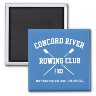 Personalized Crew Rowing Logo Oars Team Name Year Magnet
