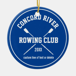 Personalized Crew Rowing Logo Oars Team Name Year Round Ceramic Decoration