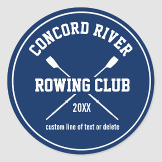 Personalized Crew Rowing Logo Oars Team Name Year Round Sticker