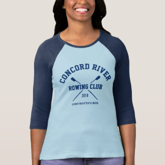 Personalized Crew Rowing Logo Oars Team Name Year T-Shirt