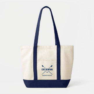 Personalized Crew Rowing Logo Oars Team Name Year Tote Bag
