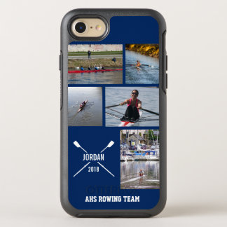 Personalized Crew Rowing Oars Photo Collage OtterBox Symmetry iPhone 7 Case