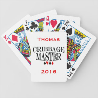 Personalized Cribbage Master Bicycle Playing Cards