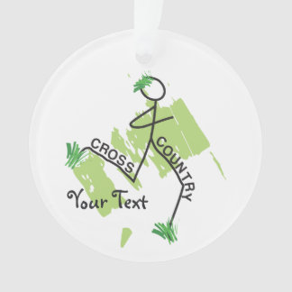 Personalized Cross Country Funny © Grass Runner Ornament