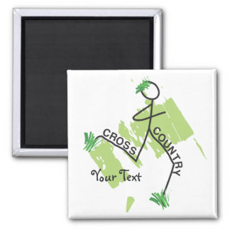 Personalized Cross Country Grass Runner Fridge Magnets