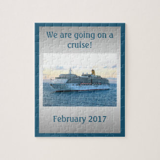 Personalized Cruise Surprise Jigsaw Puzzle
