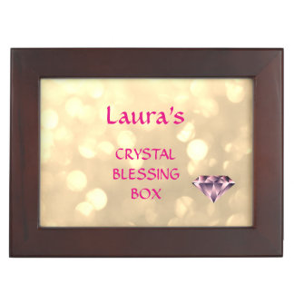 Personalized Crystal Blessing Box