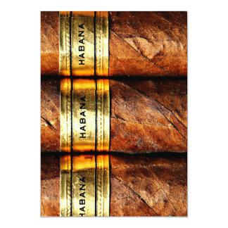 Personalized Cuban Cigars Habana Invitation