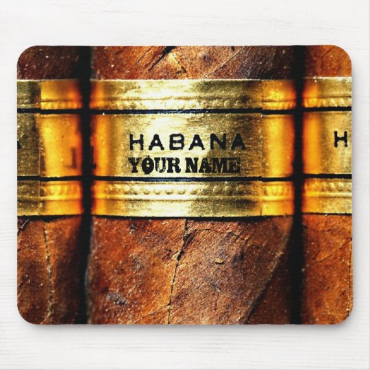 Personalized Cuban Cigars Habana Mousepad