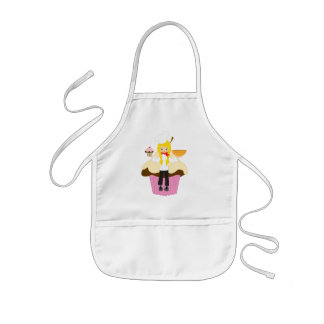 Personalized cup cake maker baker pink kids apron