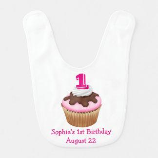 Personalized Cupcake Birthday Bib