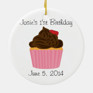 Personalized Cupcake Birthday Ornament
