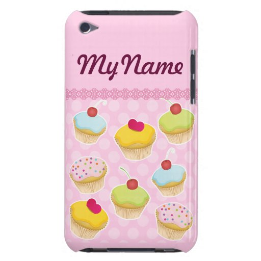 Personalized Cupcakes Barely There iPod Cases