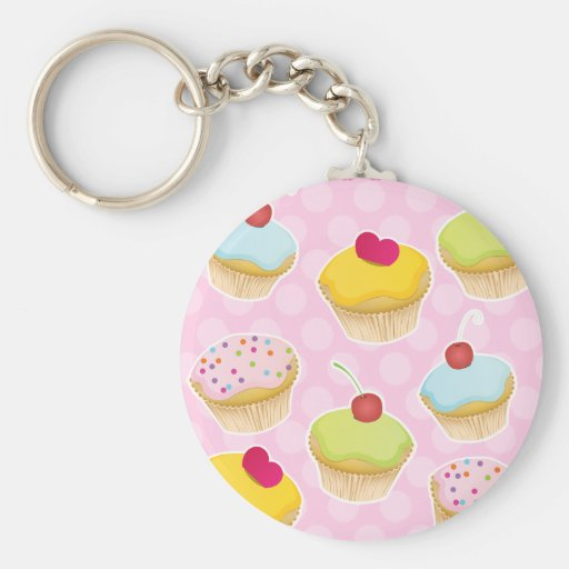 Personalized Cupcakes Key Chains