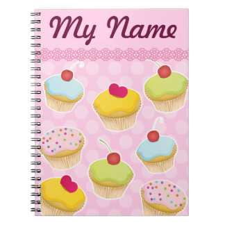 Personalized Cupcakes Notebook