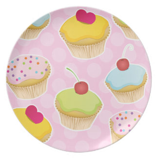 Personalized Cupcakes Plate