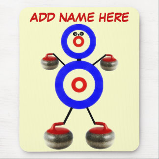 Personalized Curling Cartoon Mouse Mat
