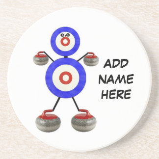 Personalized Curling Star Beverage Coasters