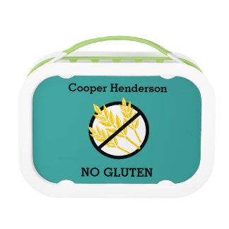 Personalized Custom Color Kids Gluten Free Symbol Lunch Box