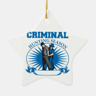 Personalized Custom Criminal Hunting Season Ceramic Star Decoration
