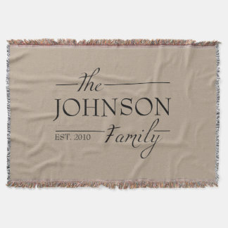 Personalized Custom Family Name Blanket Gift Idea