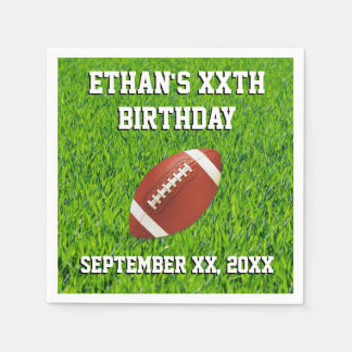 Personalized Custom Football Party Disposable Serviettes