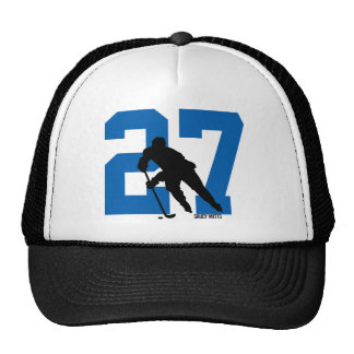 Personalized Custom Hockey Player Number Cap