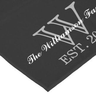 Personalized Custom Monogram Table Runner