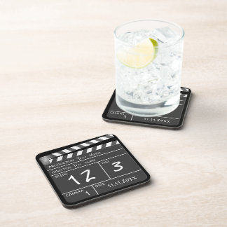 Personalized Custom Movie Clapperboard Novelty Coaster