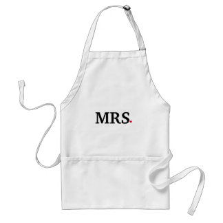 Personalized Custom Mrs. Wife Bride Standard Apron