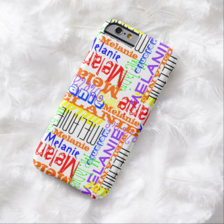 Personalized Custom Name Collage Colorful Barely There iPhone 6 Case