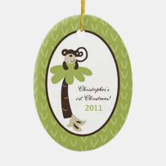 Personalized Custom Ornament Monkey Time Zoo Jungl