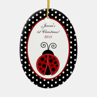 Personalized Custom Ornament Red Ladybug