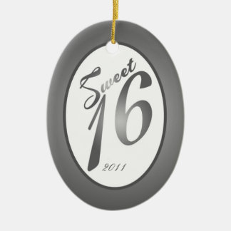 Personalized Custom Ornament Sweet 16 Silver