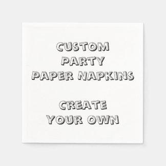 Personalized Custom Print Paper Party Napkins Disposable Serviette