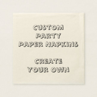 Personalized Custom Print Paper Party Napkins Paper Napkin