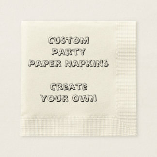 Personalized Custom Print Paper Party Napkins Paper Napkins