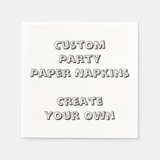 Personalized Custom Print Paper Party Napkins Paper Serviettes
