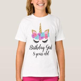 Custom Unicorn Shirt Rainbow Tutu Outfit Girls Birthday Gold 4PC Gift Set Personalized Name