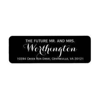 Personalized Custom Wedding Future Mr and Mrs Return Address Label