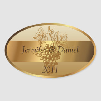 Personalized Custom Wine Labels Oval Sticker