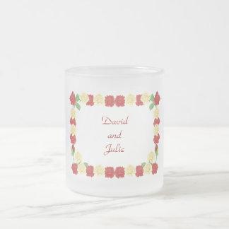 Personalized, Customizable Rose Border Mugs