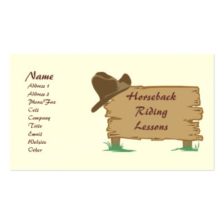 Personalized Customizable Western Style Biz Cards Business Card